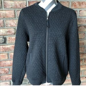 Gap quilted bomber style jacket in charcoal gray